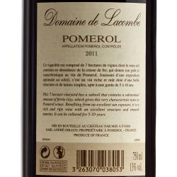 Domaine de Lacombe - Pomerol 2011