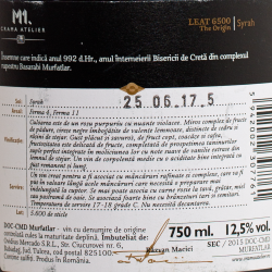 M1 Atelier - Leat 6500 The Origin Syrah 2015