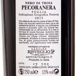 Cantine Risveglio - Pecoranera Nero di Troia 2015