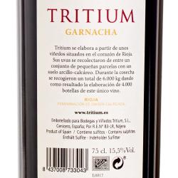 Bodegas y Vinedos Tritium - Tritium Garnacha 2015