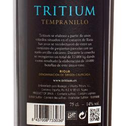 Bodegas y Vinedos Tritium - Tritium Tempranillo 2015