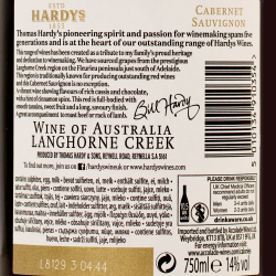 Hardy's - William Hardy Langhorne Creek Cabernet Sauvignon 2016