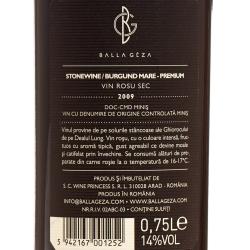 Wine Princess - Balla Geza - Burgund Mare Premium Stonewine 2009