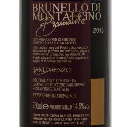 San Lorenzo Bramante - Brunello di Montalcino 2013