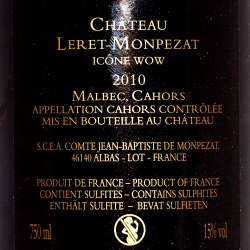 Georges Vigouroux - Chateau Leret-Monpezat Icone Wow 2010