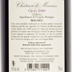 Georges Vigouroux - Chateau de Mercues Cuvee 6666 2016