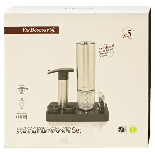 Vin Bouquet - Tirbuson Electric (set 5 accesorii)