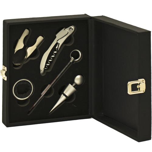 Cutia Somelierului - Set 5 accesorii vin