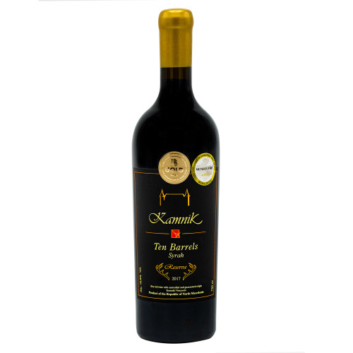 Vin Rosu - Chateau Kamnik - Single Vineyard Reserve - Ten Barrels Syrah 2017