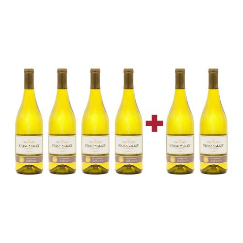 Pachet Stone Valley Chardonnay 4 + 2 Cadou
