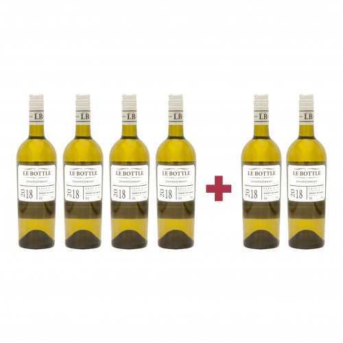 Pachet Le Bottle 2018 Chardonnay 4 + 2 CADOU